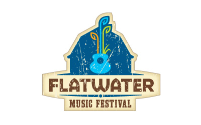 Flatwater Music Festival logo design by infuze creative