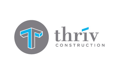 thrive construction logo design by infuze creative