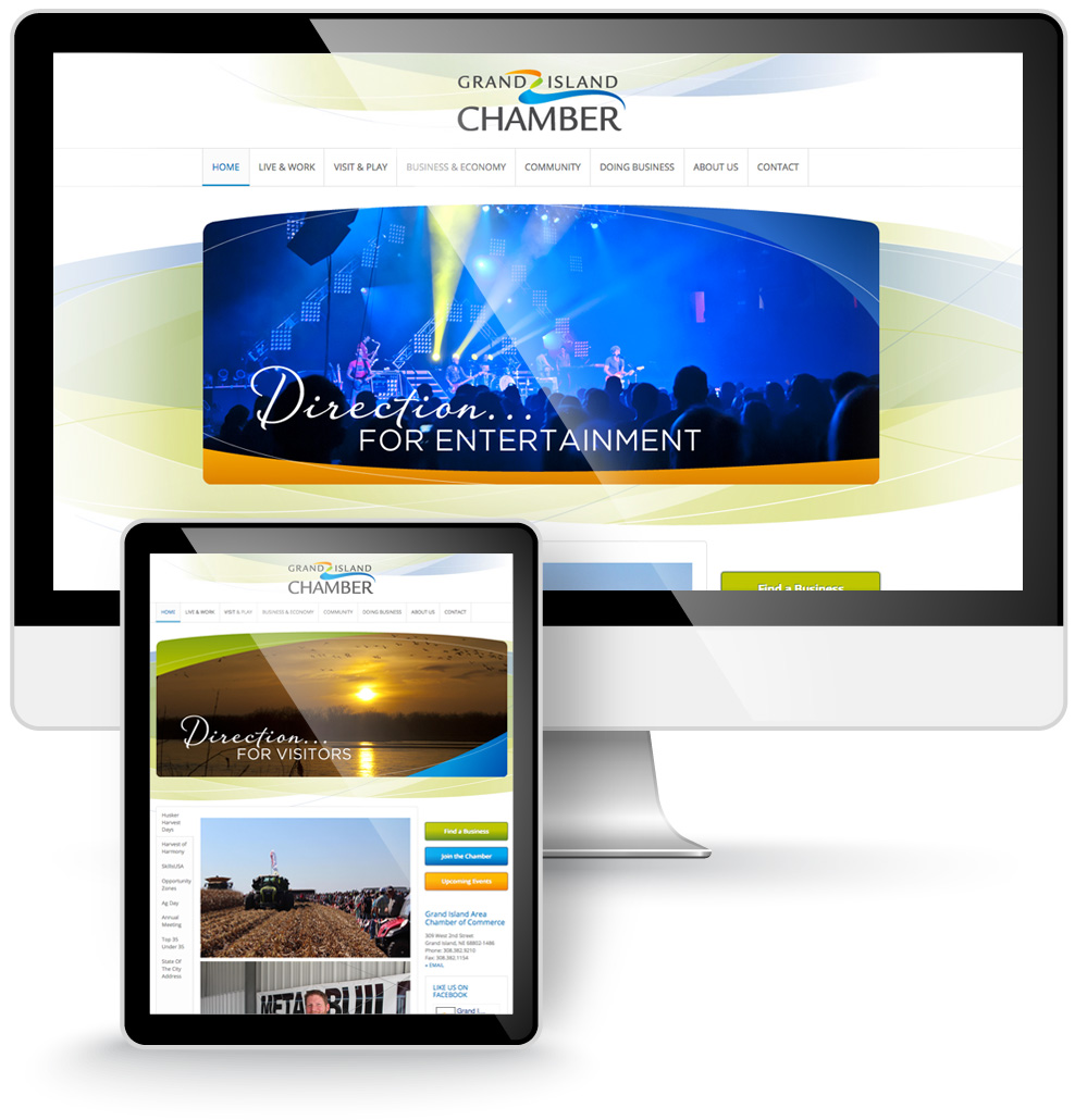 grand island chamber website design