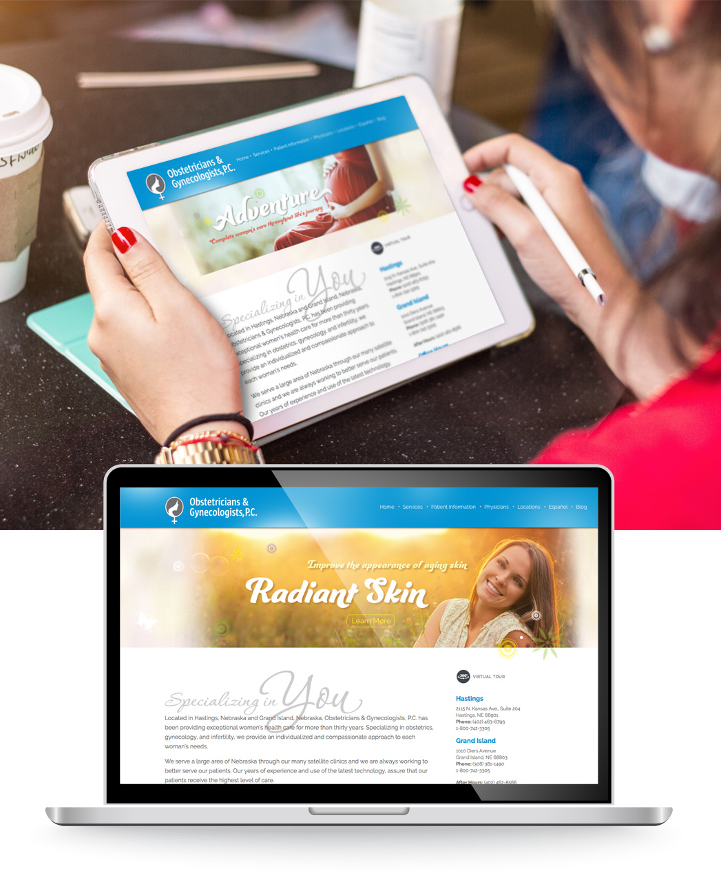 Obstetricians & Gynecologists website design