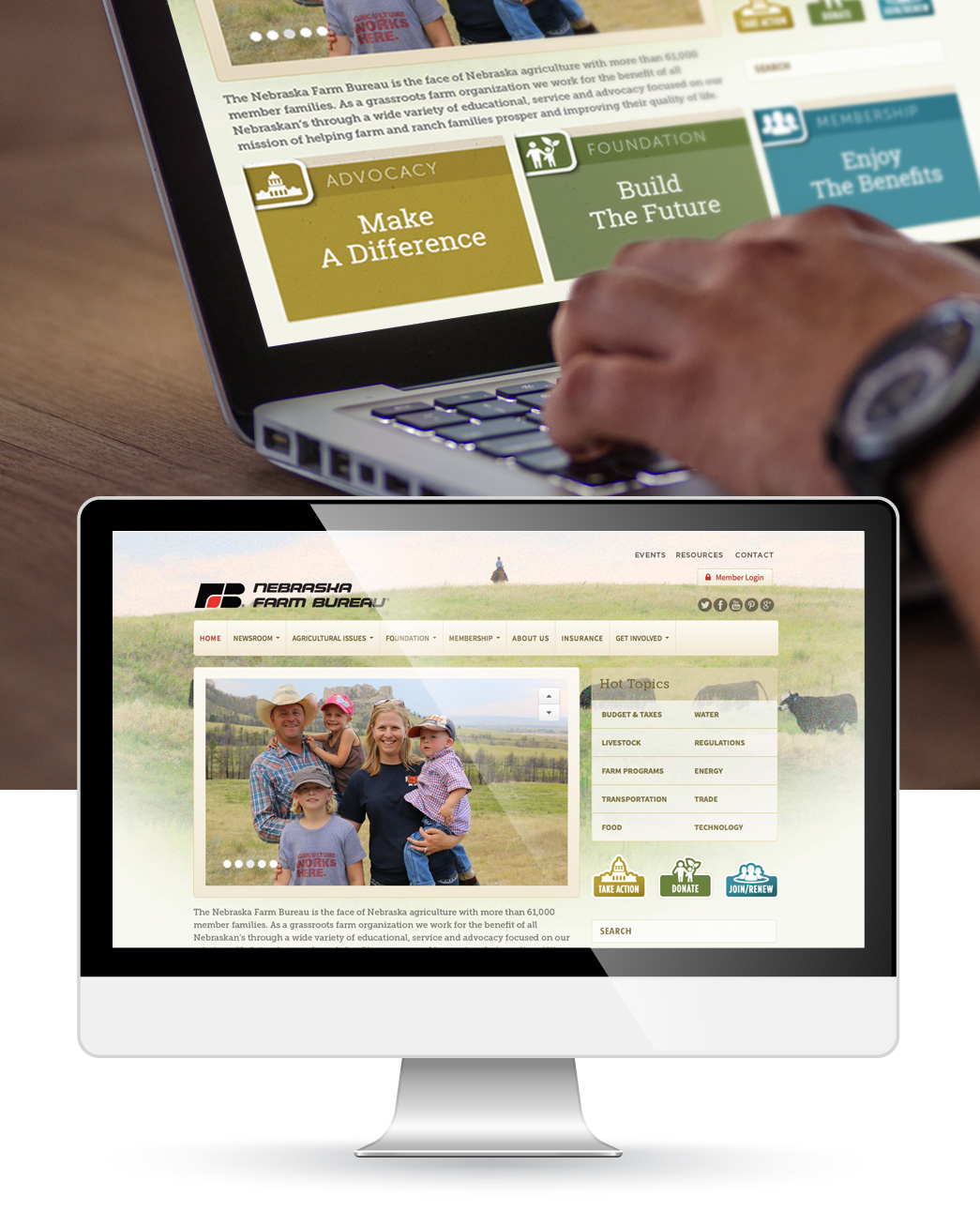 Nebraska Farm Bureauwebsite design